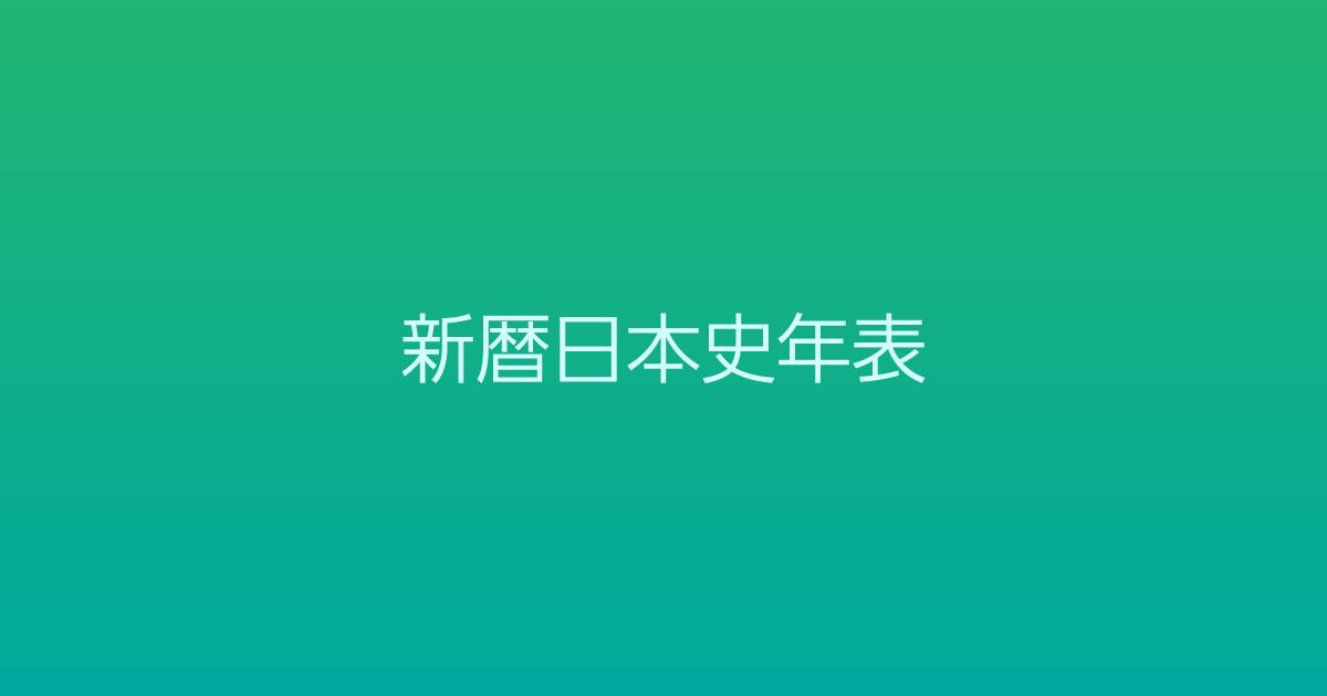 新暦日本史年表(5/5):1853年〜1873年<近代編>